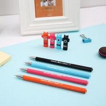 4 color school office stationery, cartoon cute gel pen, thickness 0.38mm black ink student test pen