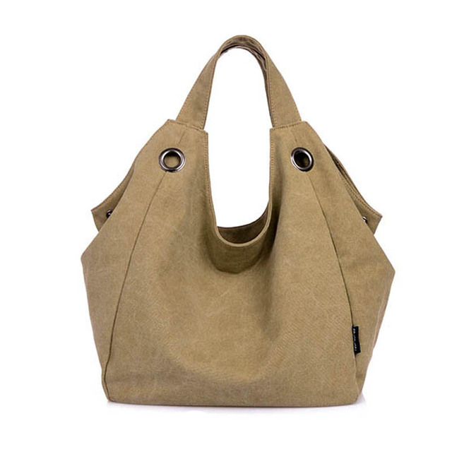 2016 Luxury Bags Woman Hand Bag Causal Canvas Bag for Women Hobo ...