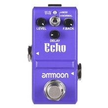 Ammoon pedal de guitarra série nano atraso pedal efeito guitarra true bypass corpo da liga alumínio peças & acessórios