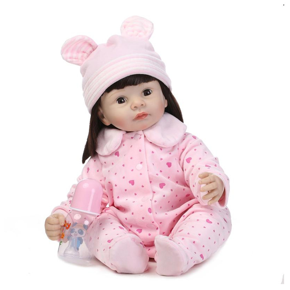 Cute Silicone Girls Doll with Clothes,50 CM Fashion Eyes will Blink Princess Doll Toys for Children's Christmas Gift