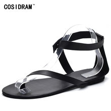 0008fef868e04 COSIDRAM Beach Sandals Fashion Woman Shoes New Summer Gladiator Roman Shoes  Flat Thong Sandals Footwear Plus Size 42 43 SNE-013