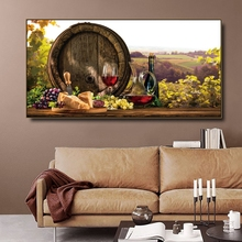 Vineyard Wooden barrel Canvas Painting & Calligraphy Poster Print Living Room House Wall Decor Art Home Decoration Picture