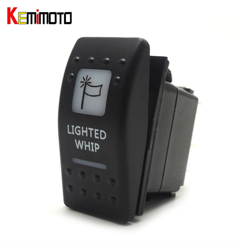 KEMiMOTO White Rocker Lighted Whip LED Laser Rocker Illuminated Switch For Can Am Maverick Commander 2011 2012 2013 2014 2015