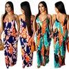 2019 Newest Hot Women's Summer Boho Floral Long Maxi Evening Party Beach Dress Floral Sleeveless V Neck Sundress 6