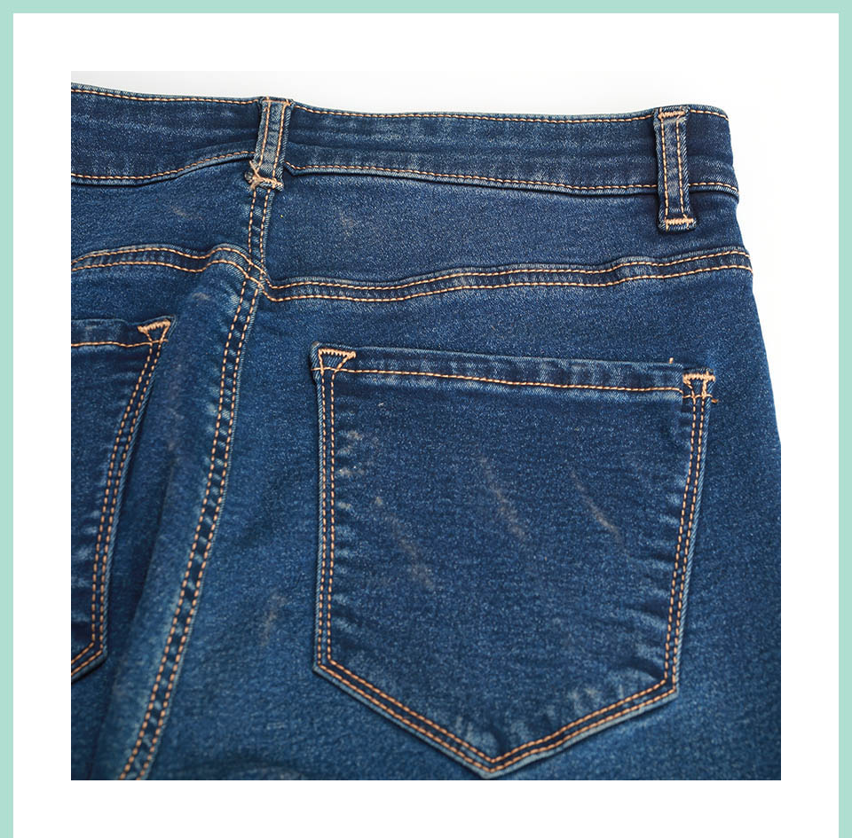 Autumn Winter Women Denim Skinny Pants Super Stretch Fake Front Pocket Waist Blue Grey Black White Slim Elastic Lady Jeans 32