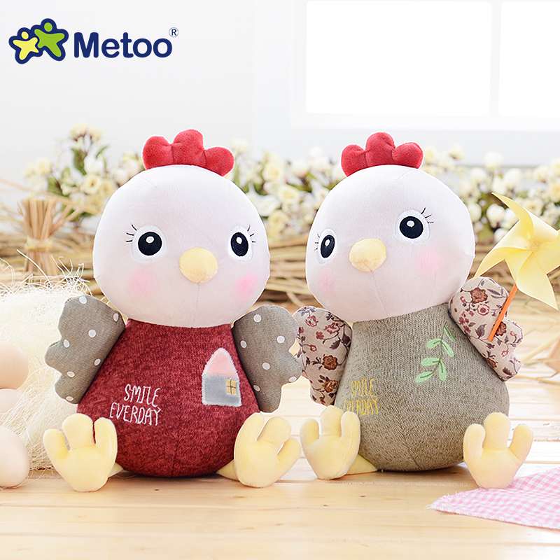 7 Inch Plush Sweet Cute Stuffed Chicken Brinquedos Baby Kids Toys for Girls Birthday Christmas Doll Chick Metoo Doll mini kawaii plush stuffed animal cartoon kids toys for girls children baby birthday christmas gift angela rabbit metoo doll