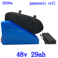 48V battery 48V 30AH 2000W Electric Bike battery 48V 29AH ebike Battery use panasonic cell with 50A BMS and 54.6V 5A charger