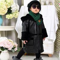 Зима Новая девушка Меховые пальто из натуральной кожи меховые пальто, милая детская с капюшоном Меховые пальто натуральная кожа пальто дли