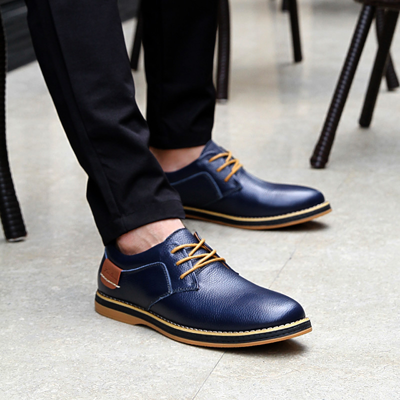 HTB11EUXcWSs3KVjSZPiq6AsiVXaV 2019 New Men Oxford Genuine Leather Dress Shoes Brogue Lace Up Flats Male Casual Shoes Footwear Loafers Men Big Size 39-48