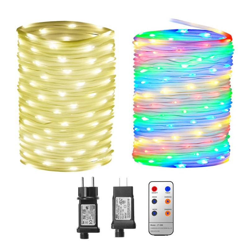 Waterproof Warm White/Colorful LED String Water Pipe Fairy Pool Copper 10x136LED String Lights Festival Wedding Decor US/EU