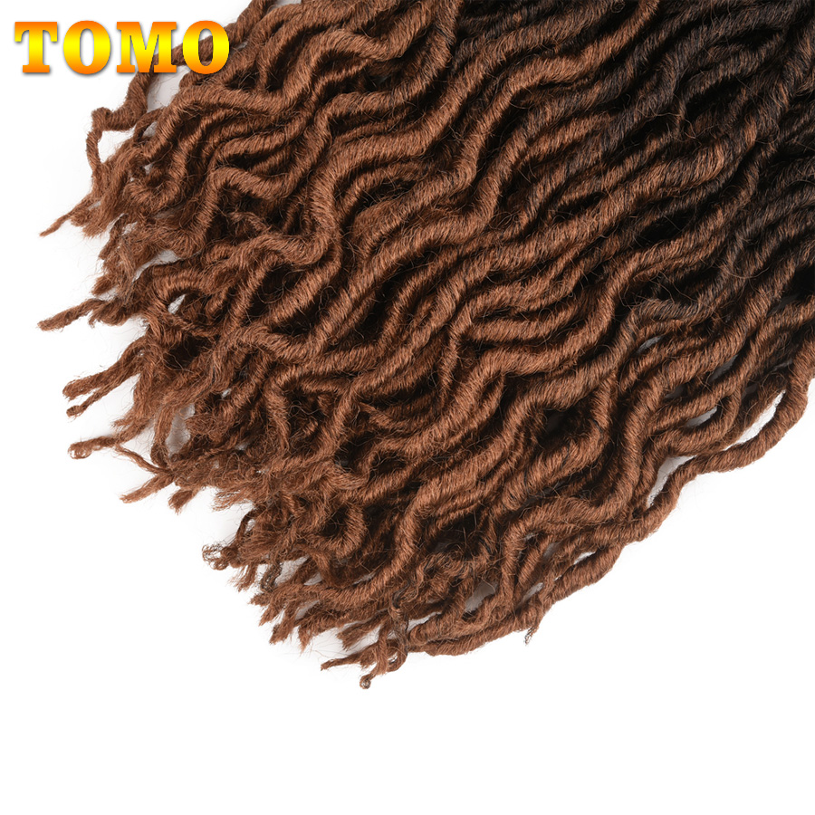 TOMO вьющиеся искусственные локоны в стиле Crochet волосы 24 косы волосы для плетения волос 18 дюймов плетеные косы Омбре наращивание волос