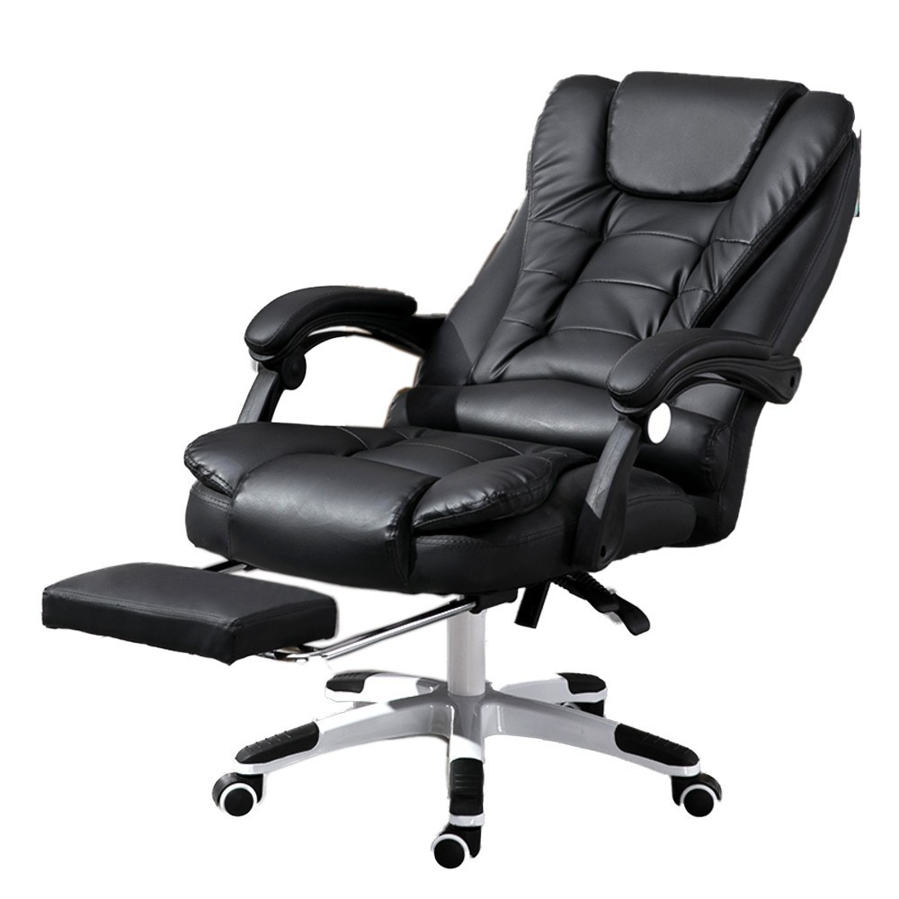 Luxury Quality  Boss Silla Gamer Office Poltrona Chair Can Lie Wheel Synthetic Leather With Footrest Ergonomics Office Furniture