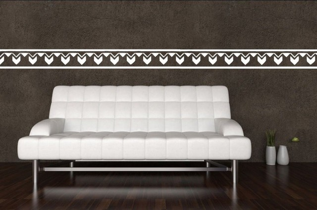 Solid Abstract Tribal Strip Vinyl Wall Sticker Home Decal ...