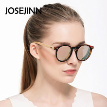 Fashion round Sunglasses women men Retro Wood Wooden Frame Polarized sunglasses men