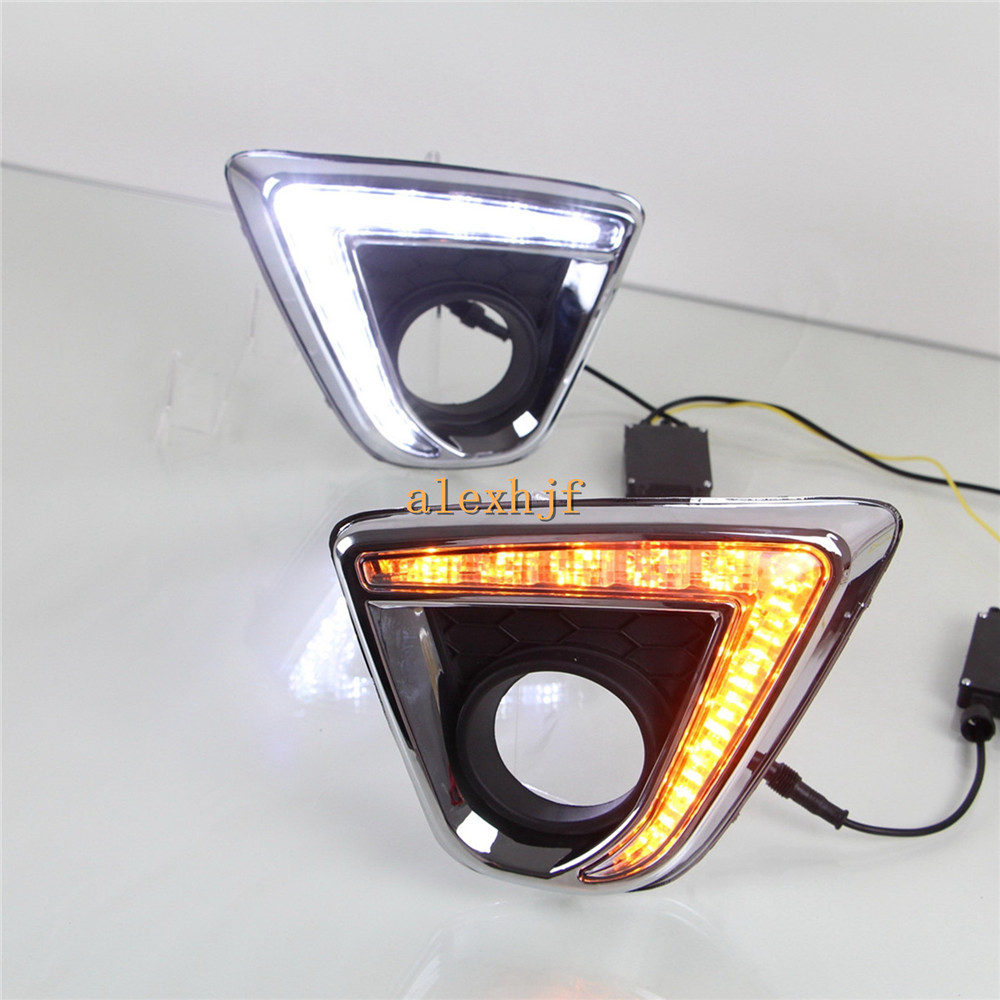 цены  July King LED Daytime Running Lights DRL, LED Fog Lamp With Yellow Turn Signal Light case for Mazda CX-5 2012~15, 1:1, L type