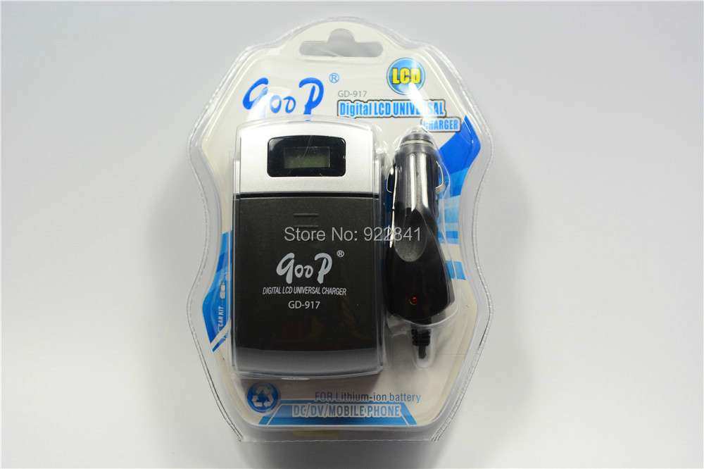 Digital LCD Universal Car Charger For AA/AAA Rechargeable Battery EU Plug And Free Shipp ...
