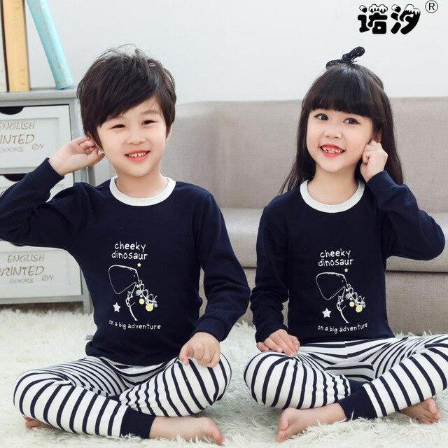 Kids Boys Sleepwear baby girl spring cotton sets Children Homewear Pajamas for Boy Pyjamas Kids Nightwear 2-13Y teenage clothes 1