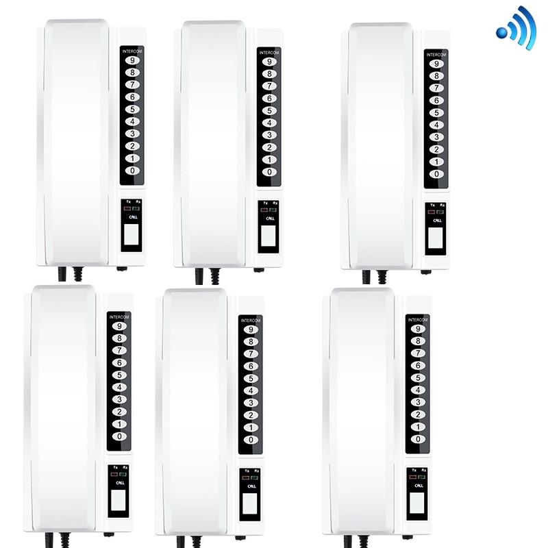 Audio Intercom 8-wohnungen Xinsilu Neue Heißer Verkauf Power Linie Intercom Audio Tür Telefon Mit Direkten Rufen Sie Tasten Unterstützung Id Karte Zu Entsperren