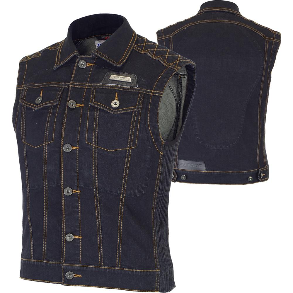 Benkia women motorcycle jacket riding denim jacket vest jean jacket protector spring summer autumn sl