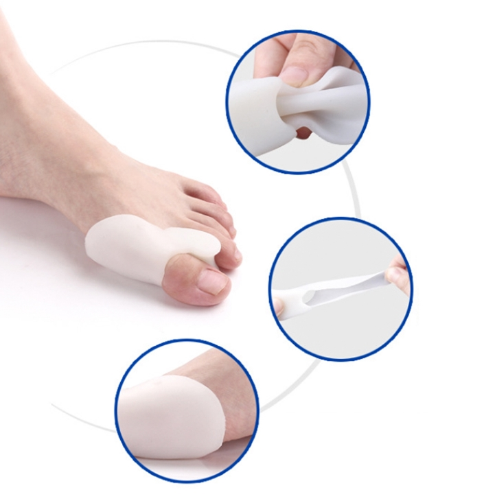 200pcs lot Silicone Toe Bunion Braces Supports Corrector Toe Separators Straightener Spreader Foot Hallux Valgus Orthotics