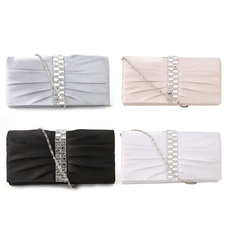 Stylish Women Lady Bridal Party Evening Prom Shoulder Bags Clutch Handbag Purse