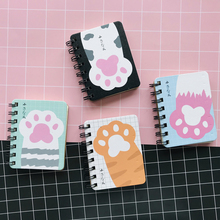 1PC Kawaii Cute Cat Paw Portable Notebook School Office Supp