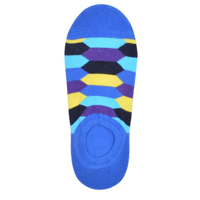 2019 Hot Sale Classic Men's Combed Cotton Diamond Geometric Pattern Ankle Socks Summer New Casual Funny Colorful Dress Socks 6