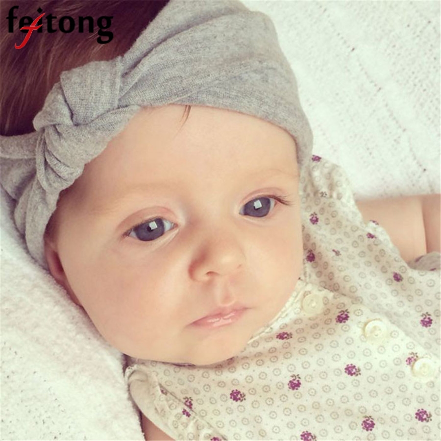 Baby Hair Accessories Baby headband Toddler Cute Hairband Turban Knot Rabbit Baby Girl Headbands Accesorios Para El Pelo