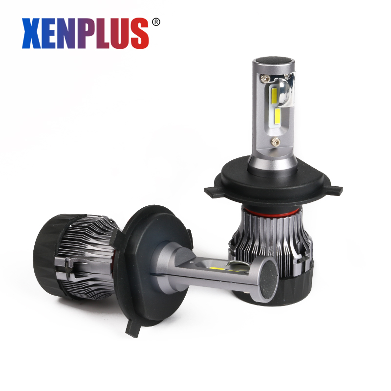 Xenplus Mini H4 H7 H8 H9 H11 HB3 <font><b>HB4</b></font> 9005 <font><b>LED</b></font> Car Headlight Bulbs Hi lo Beam 12V 5000LM 6500K <font><b>Cree</b></font> chip Fog light bulbs for auto image