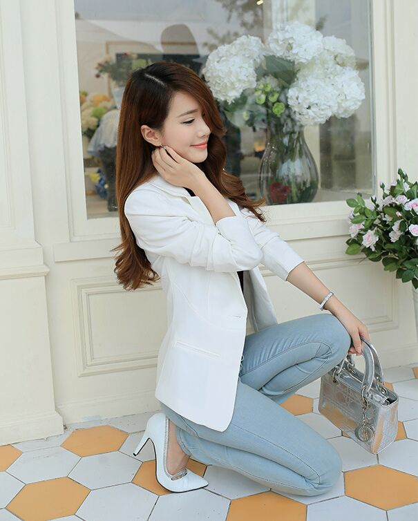 100 - 2016 new wholesale clothing slim female coat suit a long sleeved women on behalf of