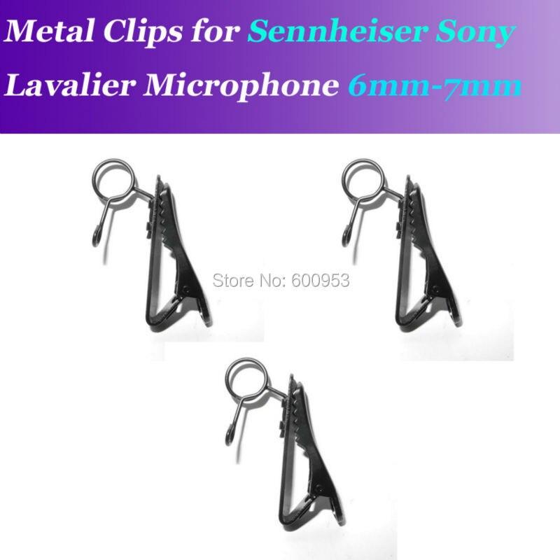 Pro grampos de metal clipe de lapela microfone para sennheiser me2 sony v1 d11 microfones de lapela