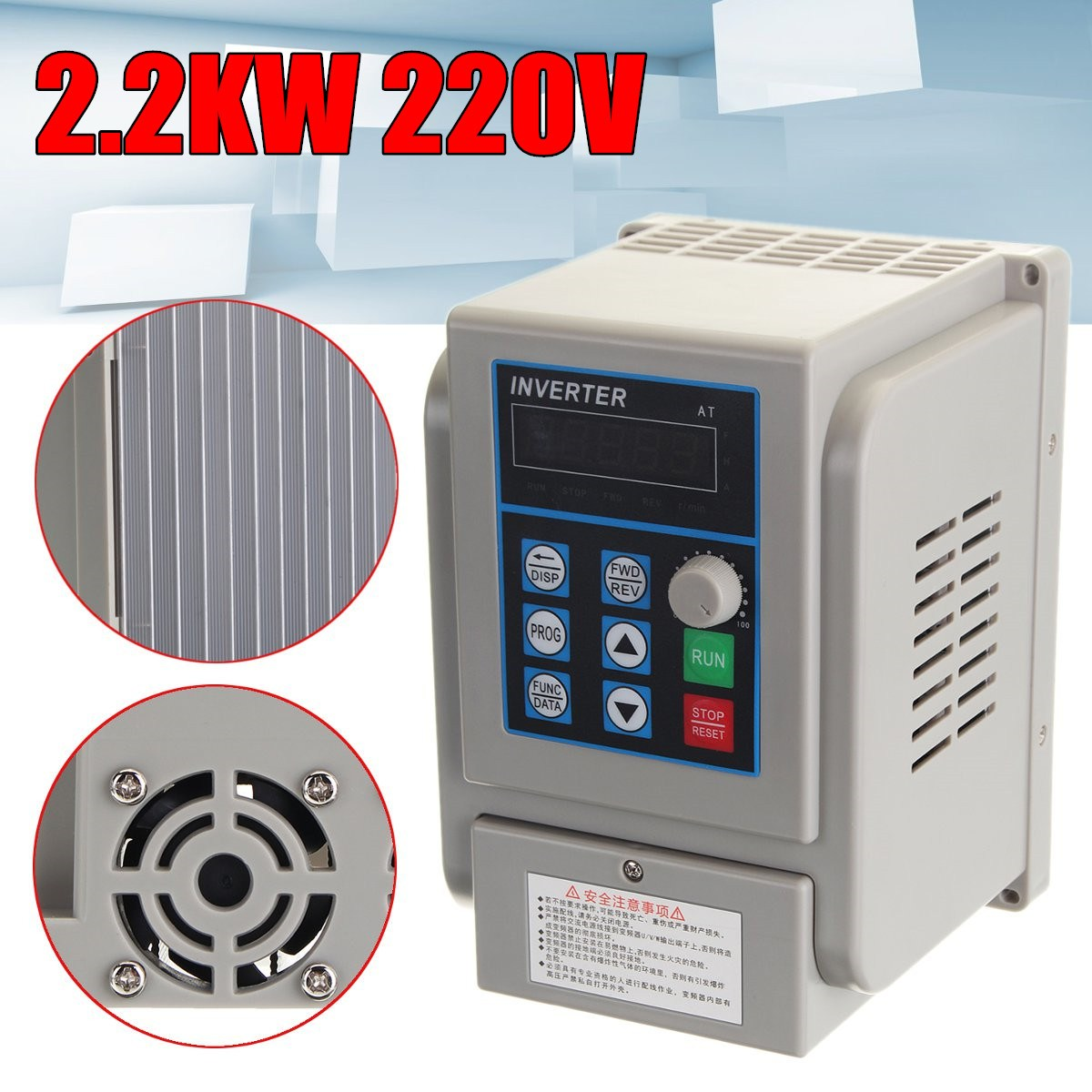 Brand New CNC Spindle motor speed control 220v 2.2kw VFD Variable Frequency Drive VFD  3HP frequency inverter for motor cnc spindle motor speed control 0 75kw 220v vfd drive cnc control 1000hz frequency inverter input 1ph or 3ph vfd inverter