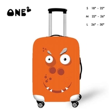 Fashion A cute cartoon face Pattern Style Travel Luggage Suitcase Trolley 22″-26″ Carrier Cover M