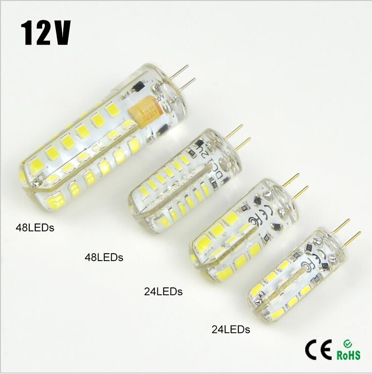 3W 5W 6W <font><b>10W</b></font> DC12V <font><b>LED</b></font> lamp Crystal light High End Silicone Body <font><b>G4</b></font> 3014 2835 SMD Spotlight Bulb Chandelier replace, <font><b>LED</b></font> light image