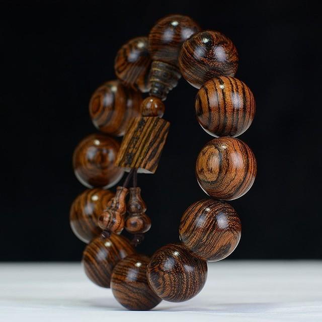 Tiger Sandalwood Buddha Beads Bracelet