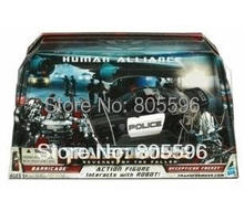 New Robot Barricade Roadblock car+man Action Figures in retail box