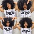 250% Del Pelo Humano Pelucas Delanteras Para Las Mujeres Negras Del Frente Del Cordón pelucas Pelucas Llenas Del Cordón Brasileño Corto Bob Pelucas Rizadas Afro Rizadas