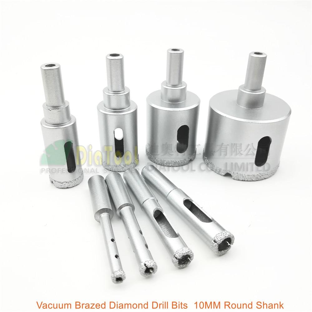 8pcs/set Vacuum Brazed Diamond drill core bits drilling hole saw granite marble stone ceramic glass masory 10mm round shank  diamond tools for granite
