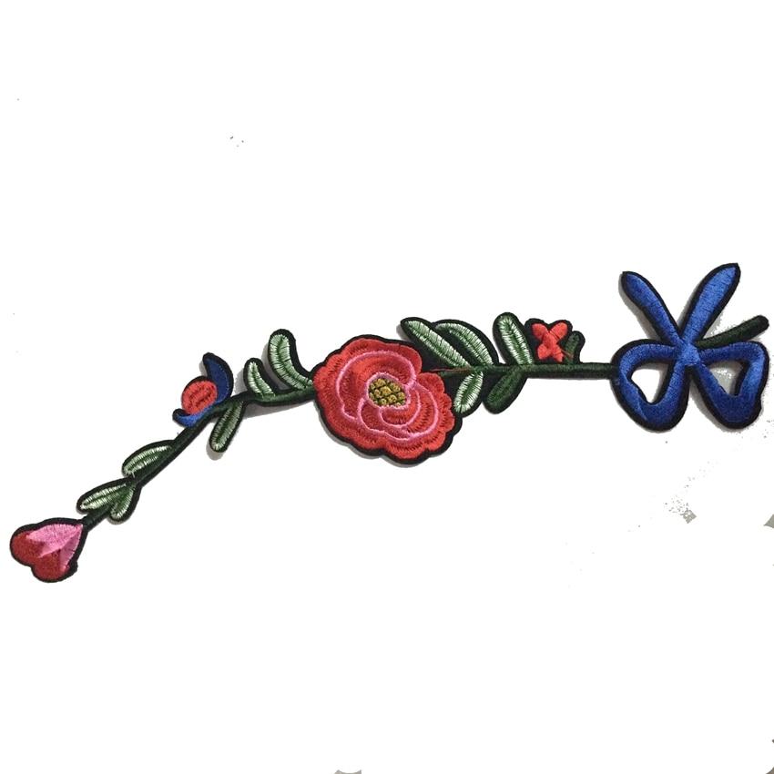 1db hímzett applikáció többszínű csokornyakkendő virág - Művészet, kézművesség és varrás - Fénykép 3