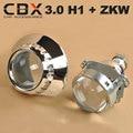 CBX Atualizada LÍDER De Metal 3.0 Polegadas HID Bi-xenon Lente Do Projetor LHD/RHD + ZKW Mortalha Um para E46 Auto Farol Retrofitting