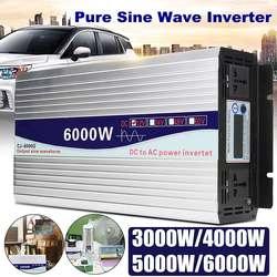 Omvormer 12 V/24 V naar AC 220 V 3000/4000/5000/6000 W transformator zuivere Sinus Omvormer Converter LED Display