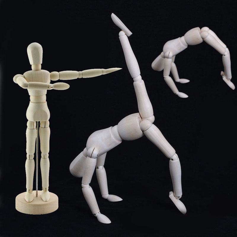 Toys Mannequin Puppet Drawing-Model Action-Figure Wooden Human Male Sculpting Manikin