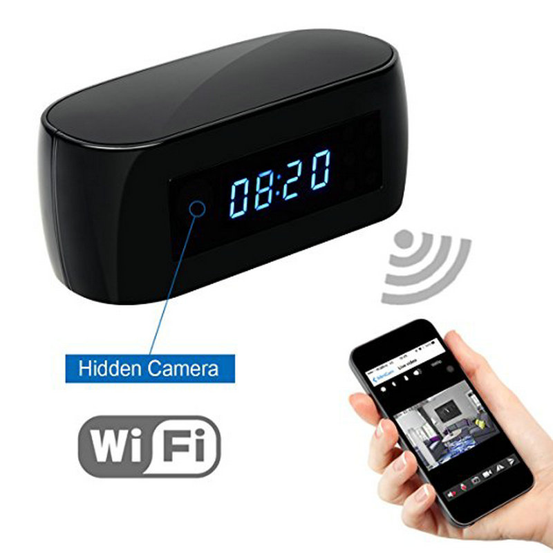 HD 1080P Wifi Camera with Time display Electronic Clock DV Camcorder P2P Motion Detection Mini IP Camera Video Recorder diy camera mini wifi camera full hd 1080p camcorder p2p motion detection video security with 2 4g rf remote control diy camera