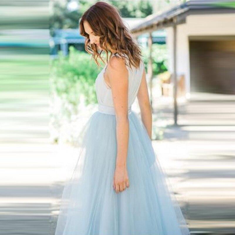 Baby Blue A Line Skirt - Dress Ala