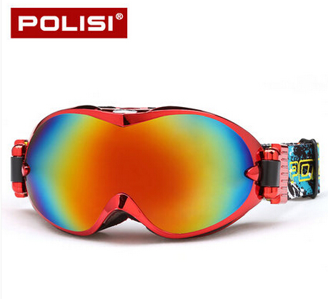 Prix pour POLISI Ski Lunettes de Neige Anti-Buée Snowboard Snowboard Lunettes De Protection Lunettes De Sport UV Protection Motocross Lunettes