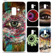 Luxury Soft Back Case For Samsung Galaxy J3 J4 J5 J6 J7 J8 J2 Pro 2018 J1 2016 J2 Grand Prime Pro Cover colorful eye crazy eye s(China)