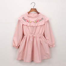 Girls Dress 2019 new spring baby party clothing kids dresses for girls embroidery flower clothes children dress 2 3 4 5 6 years keelorn girls denim dress children clothing casual style girls clothes butterfly embroidery dress kids clothes 2017 spring