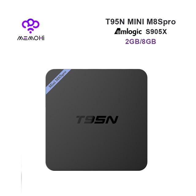 US $29 99 |MEMOBOX T95N Mini M8S PRO Android 6 0 Smart TV Box Amlogic S905X  Quad Core Support HEVC 4K H 265 RAM 2G eMMC 8G ROM Media Playe-in Set-top
