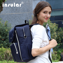 New arrival shipping Free Insular Baby Diaper Backpack Multifunctional Nappy Bag Mommy Backpack Changing Bags