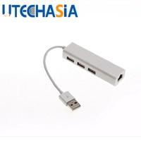 Hub USB de 3 Puertos HUB USB $ NUMBER Con Interfaz de Tarjeta de Red HUB divisor RJ45 Tarjeta de Red Externa Con Cable Para PC Portátiles Portátiles